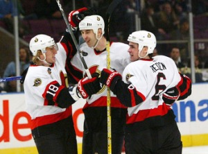Chara and Redden on the Senators